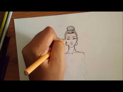 Fashion Illustration : HOW TO DRAW FACE EASY /Comment dessiner UN visage (facile).