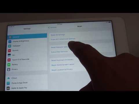 iPad Mini 4: How to Reset Network Settings