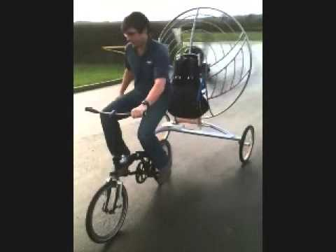 Bicycle with aircraft engine ground test