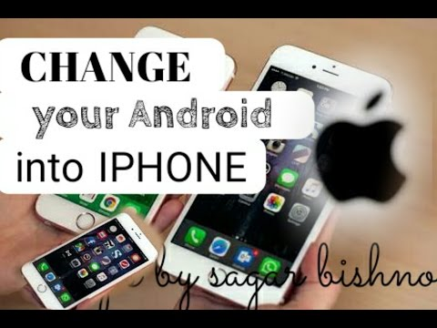 Change your Android into iOS | how to change android into iphone |hindi |