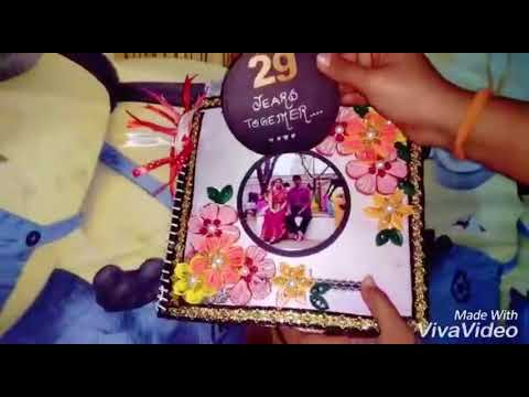 Handmade Anniversary Scrapbook for Mom Dad | Forsomeonespecialcards