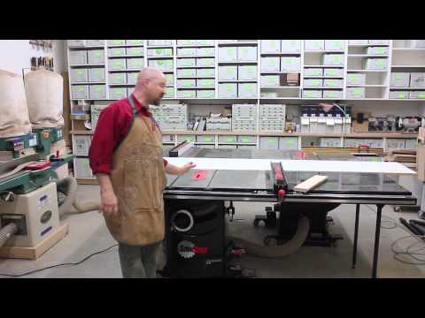 Cutting Rabbet Joints and Making Ship Lap Paneling On Your SawStop Saw