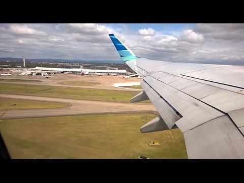 Garuda Indonesia Take Off Brisbane Airport