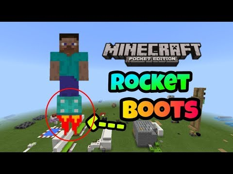 [MCPE]How to make working Rocket Boots in Minecraft Pocket Edition!!!!