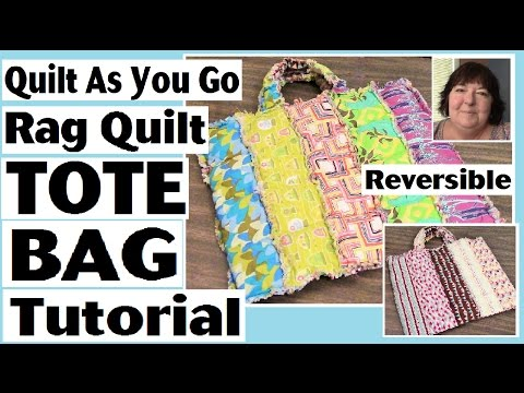 DIY Quilt As You Go Reversible Tote Bag (QAYG) - How to Rag Quilt Tutorial - Sewing Project