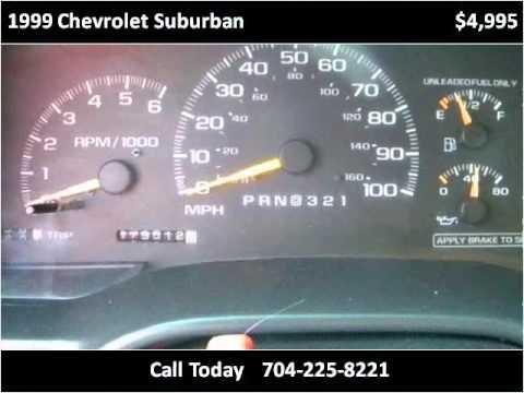 1999 Chevrolet Suburban Used Cars Monroe NC