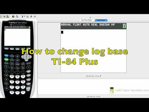How To Change Log Base On TI 84 plus