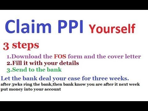 How to claim PPI by Yourself -I did myself