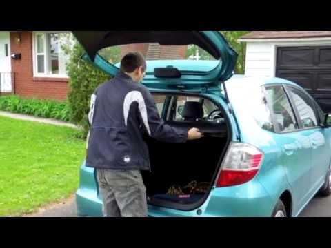 Homemade trunk cover for Honda Fit