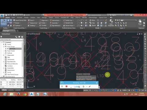 Tutorial 1  Creating topographical map in civil3d 2015