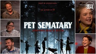Download Jason Clarke, Jeté Laurence & Amy Seimetz on Stephen King's Pet Sematary 2019 Video