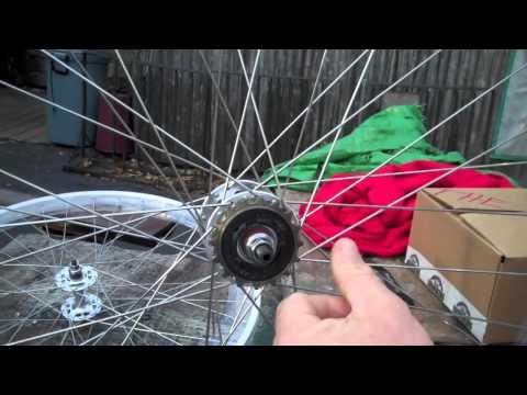 FIXIE Bike Wheels 27 x 1  Flip Flop Hub - How To Install Freewheel Cog