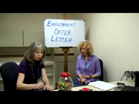 How to Write an Employment Offer Letter - Two Minute Tidbit