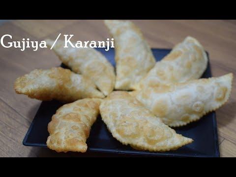 Diwali Special करंजी Crispy Gujiya Karanji Recipe खुसखुशीत करंजी  Sooji Karanji Rawa Karanji Karanji
