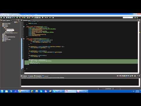 Java GUI Calculator Tutorial (NEW) Part 4: Operations