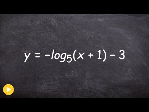 Graphing logarithmic equations