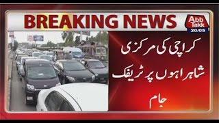 Karachi: Traffic Jam witnesses thoroughfares