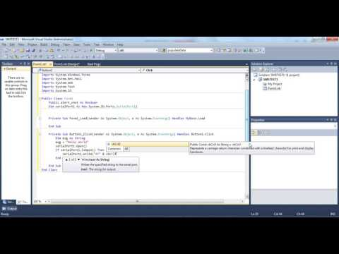 3. Creating A simple SMS application using the vb.net