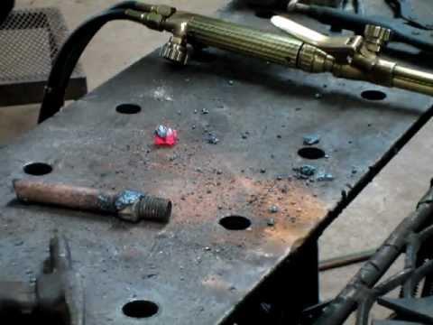 Cutting a nut off a bolt