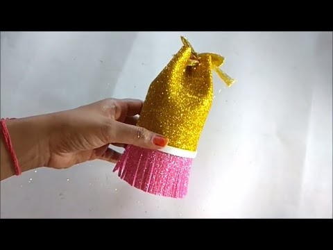 DIY Potli bag from waste material at home complete tutorial / DIY Bottle Bag / How to make purse