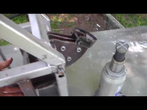 how to build this simple homemade tube bender for roll cage