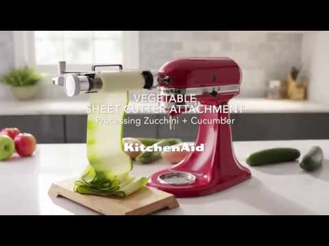 How to: Process Soft Foods with the Vegetable Sheet Cutter Attachment | KitchenAid