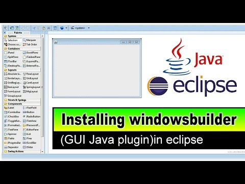 installing windowbuilder GUI designer plugin on eclipse