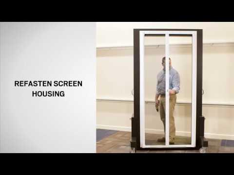 Glide Replacement on an Andersen LuminAire™ Retractable Screen Door