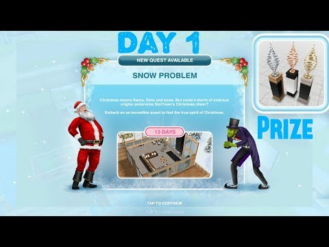 Simsfreeplay - Snow Problem Quest Day-1 Christmas  Holiday Update
