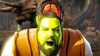 Mortal Kombat XL - All Fatalities & X-Rays on Shrek Costume Skin Mod 4K Ultra HD Gameplay Mods