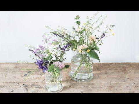 DIY : Flower arrangement in vase by Søstrene Grene