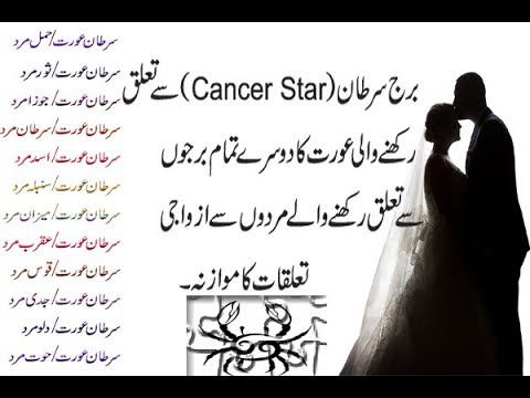 Cancer Women (سرطان عورت)  Marriage And Love Compatibility With Men Related From Others Stars Urdu