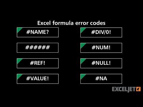 Excel formula error codes and fixes
