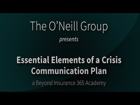 Essential Elements of a Crisis Communication Plan
