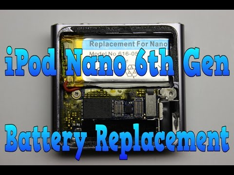DIY Apple iPod Nano 6th Generation Battery Replacement Step By Step Video