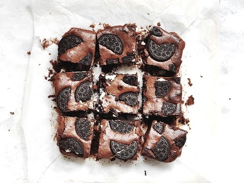 How to Make Oreo Brownies   Lizzy Hodgins
