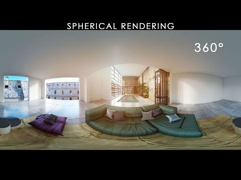 VRay Spherical Rendering 360 - 3D viewer and more