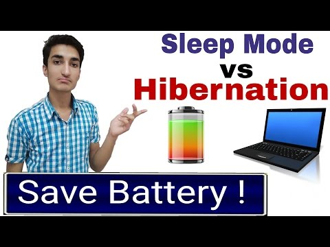 Hibernation vs Sleep Mode ! How to Save Battery ? [Hindi]