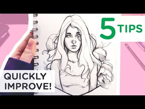 5 TIPS to IMPROVE your art! 【Sketchbook secrets that worked for me】