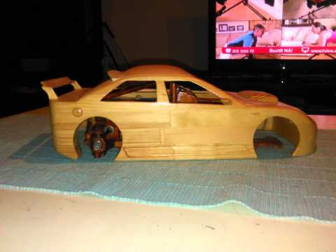 Homemade rc touring car in wood 2