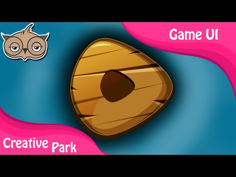 Game UI - Creating a Wooden Button in [Photoshop Tutorial]