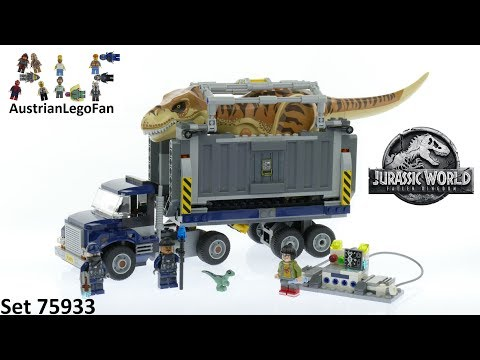 Lego Jurassic World 75933 T. Rex Transport - Lego Speed Build Review