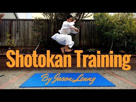 KARATE PRACTICE 001 Jumps and Kihon Drills (By Jason Leung)