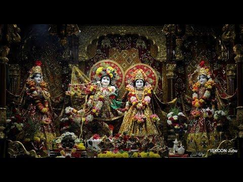 Sri Sri Radha Rasbihari Temple Sandhya Arati Darshan 19th May 2018 Live from ISKCON Juhu, Mumbai