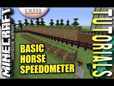 MINECRAFT - PS4 - BASIC HORSE SPEEDOMETER - HOW TO - TUTORIAL ( PS3 / XBOX / PC / VITA )  UPDATE