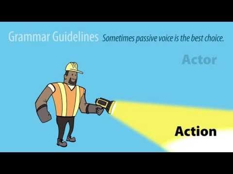 ACTIVE VERBS #3: Use Passive Voice Effectively