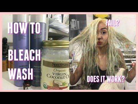 How To: Remove Blue Hair Dye| Bleach Wash