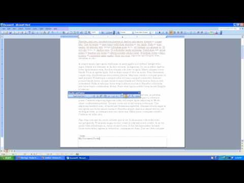 How to create a Document Footer in Microsoft Word 2003