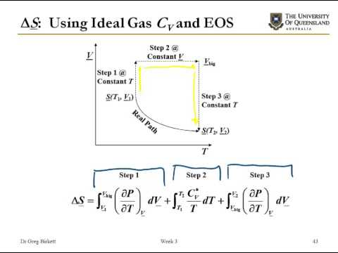 Changes in enthalpy and entropy from equations of state
