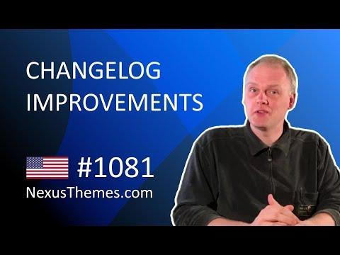 NexusThemes.com #1081 - WordPress theme version Changelog